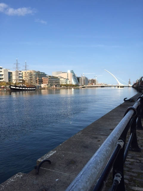 View of Samuel Beckett Bridge, Dublin