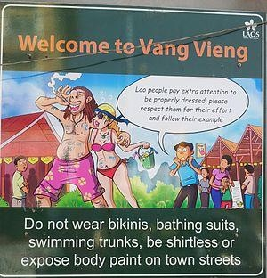 Image result for vang vieng tubing sign
